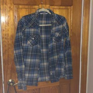 Tops - Plaid Shirt Size Medium